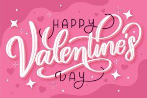 Happy Valentine's Day Pink Heart