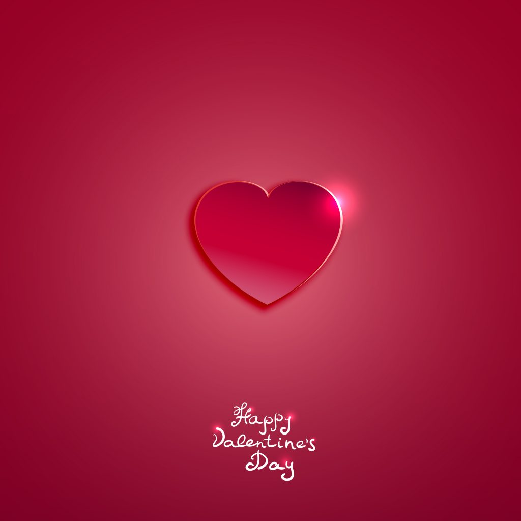 Creative pink paper heart for Valentines day card  vector background