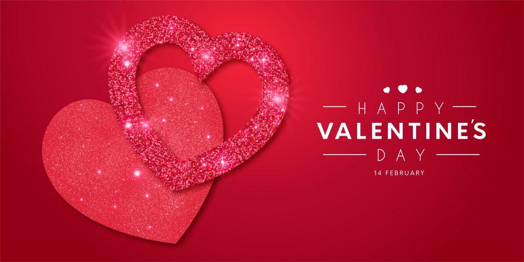 Red Background Happy Valentine's Day