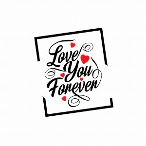 Love You Forever - Typography Valentine Card