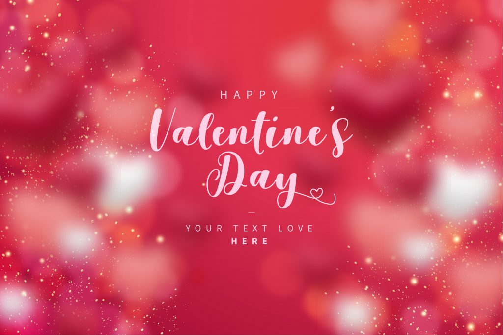 Typography Happy Valentine's Day