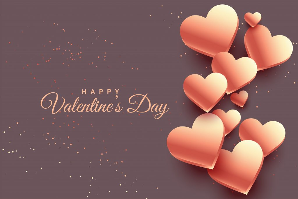 rose gold hearts valentine day