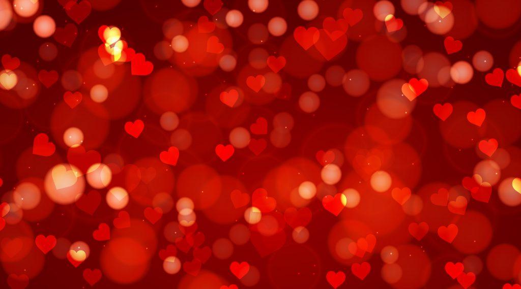 Red Heart Background Happy Valentine's Day